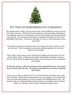 Pet Tree Ceremony