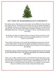 Pet Tree Ceremony
